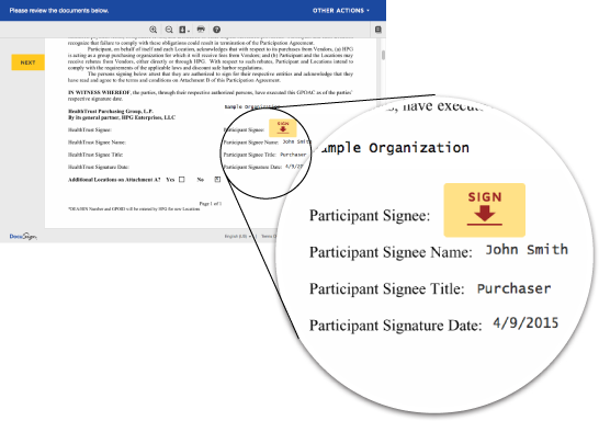 DocuSign preview
